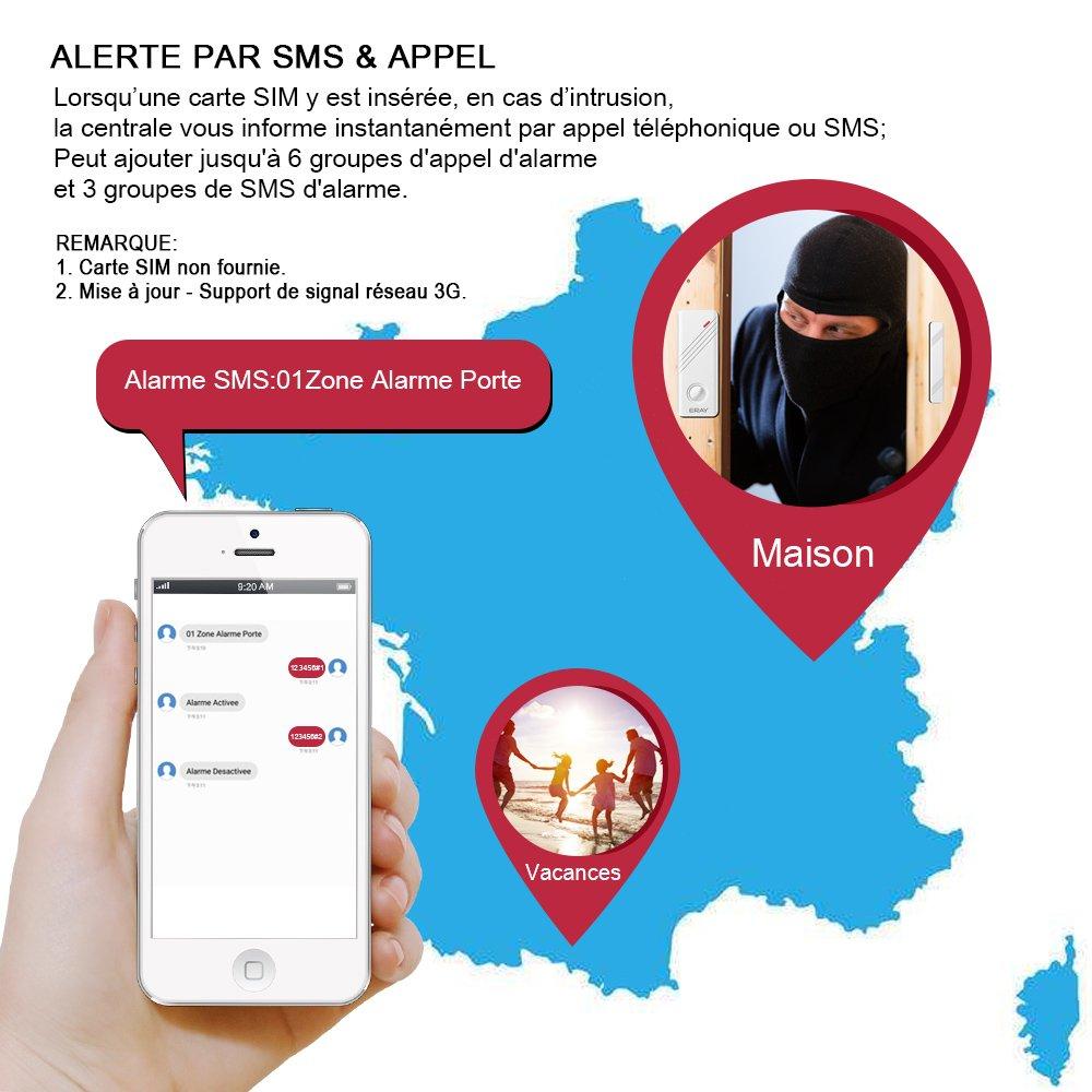 alarme maison sans fil ERAY WM3FX WiFi GSM 3G en promo