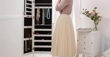Comparatif meilleure armoire à bijoux sur pied
